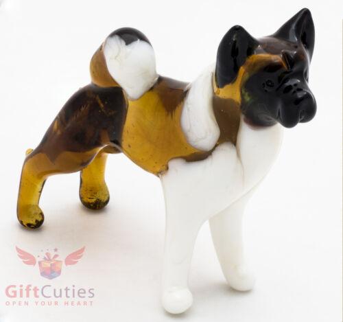 Art Blown Glass Figurine of the American Akita dog