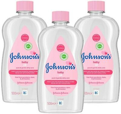 JOHNSON'S Baby Hydrating Oil PACK Baby Massage Oil 3x500ml
