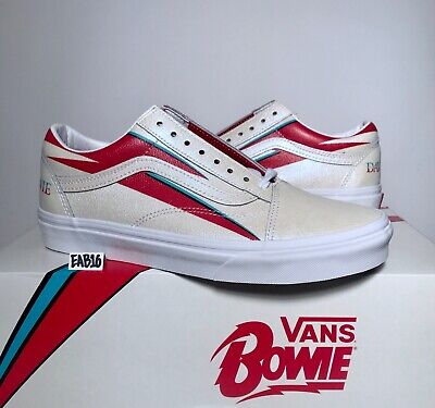 Vans Old Skool X David Bowie Aladdin Sane True White Red Blue DB Size 3.5-13