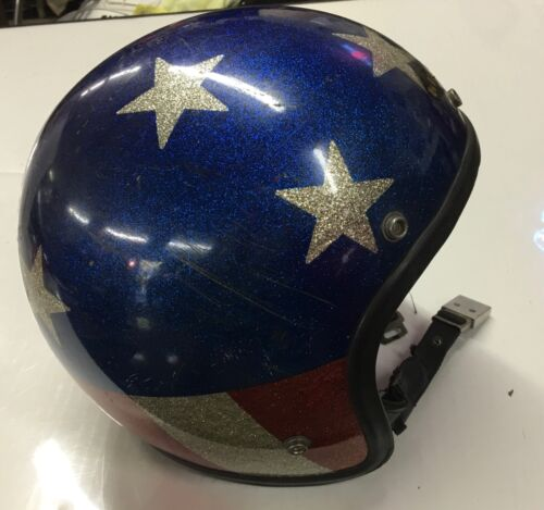 Motorcycle helmet - Stars and Stripes from the 1960's. Believe made by Fury.