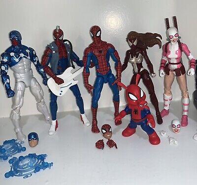 Marvel Legends Spiderman Lot Pizza Spider Punk Spider Ham Lot Of 6 MCU Marvel