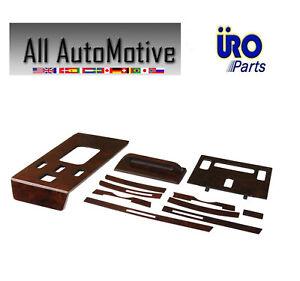 1986-1989 Mercedes-Benz 560SL URO 11-Piece Burl Wood Dash Panel Overlay Kit