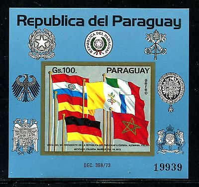 Paraguay C439, MNH, 1973  Flags Coat of arms  x20492