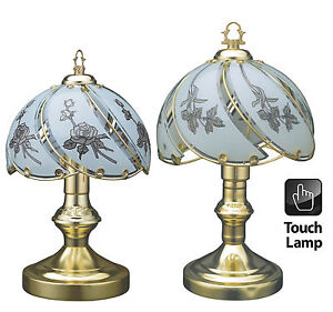 Vintage style table touch lamp desktop bedroom office for Lampe de chevet cristal