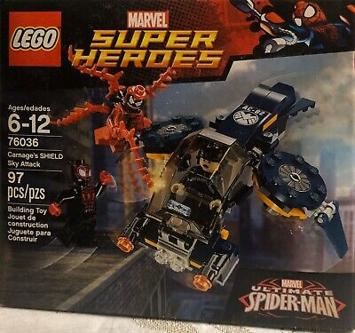 LEGO Marvel Super Heroes Ultimate Spiderman 76036 Carnage Shield Sky Attack NIB