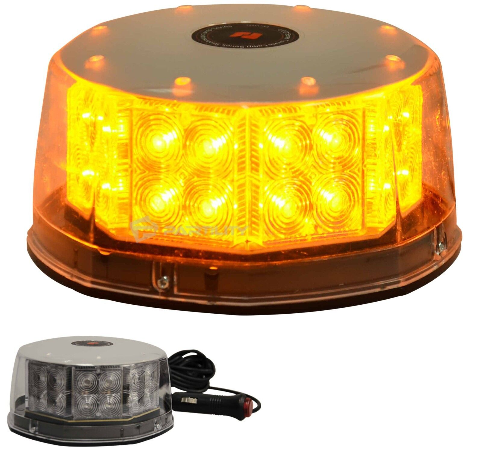 32 led amber magnetic beacon light emergency warning. Black Bedroom Furniture Sets. Home Design Ideas
