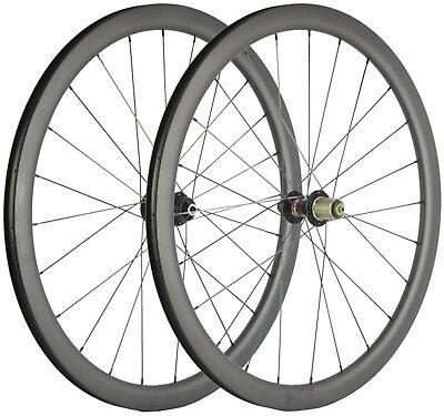 Carbon Cyclocross Wheelset 40mm Clincher/Tubular/Tubeless Disc Brake Wheels 700C
