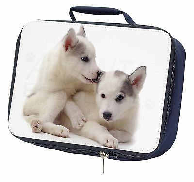 Siberian Husky Navy Insulated School Lunch Box Bag, AD-H61LBN