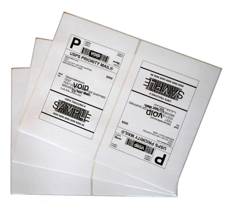 Labels 8.5x5.5 2000 Shipping 8.5x5.5 Half-Sheet Self Adhesive VM Brand Labels