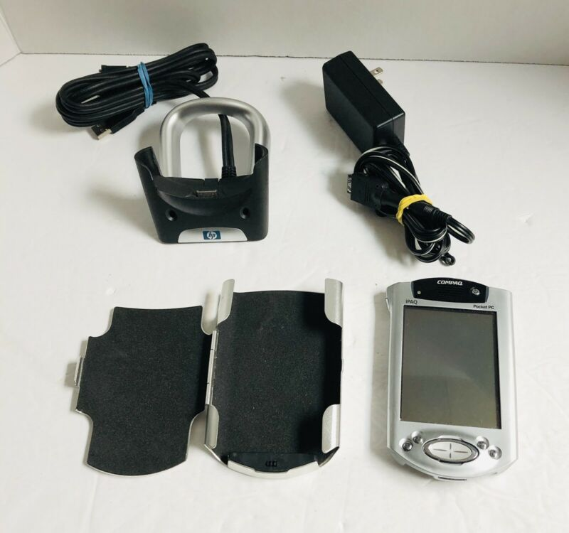 Vintage Compaq iPAQ Pocket PC with GPS and Pocket Streets. (Tested)