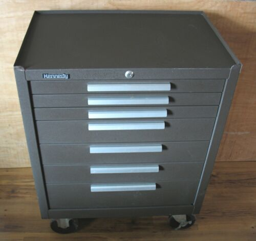 """Vintage Kennedy 277B Rolling 7 Drawer Tool Chest Cabinet 27""""W x 18""""D x 35""""H USA"""
