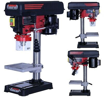 Lumberjack Bench Top 5 Speed Pillar Drill Press Table Stand 13mm Chuck 240v