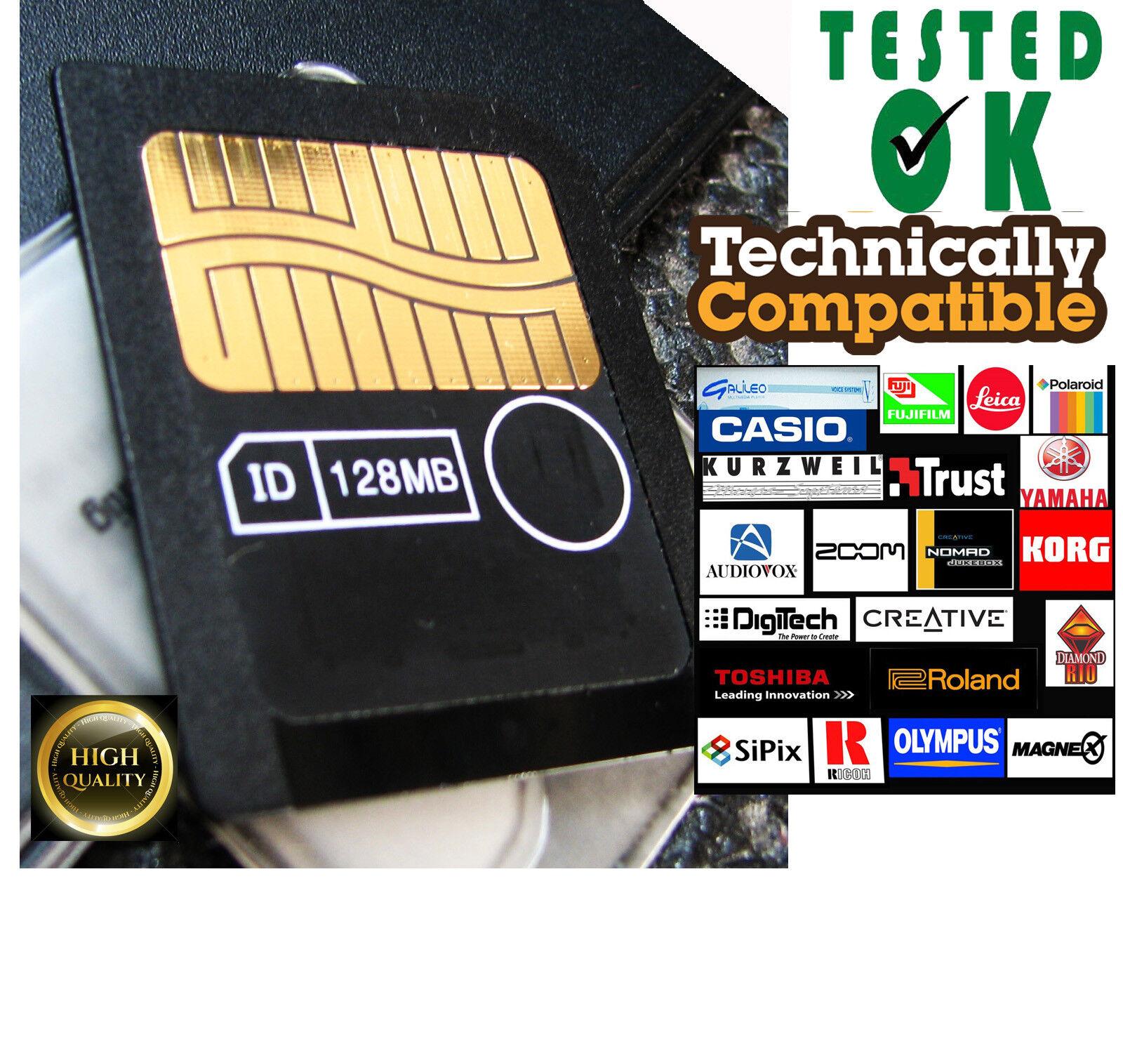 128MB SMARTMEDIA CARD-Memoria Musicale Tastiere Campionatori KORG Yamaha TESTED