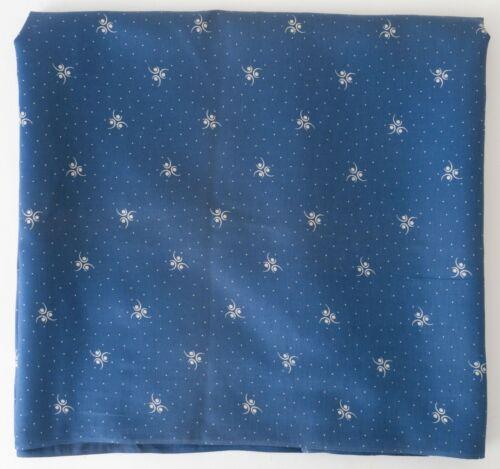 Vintage 1800s Discharge Printed Calico Indigo Blue Quilt Yardage Workwear 2+ yds