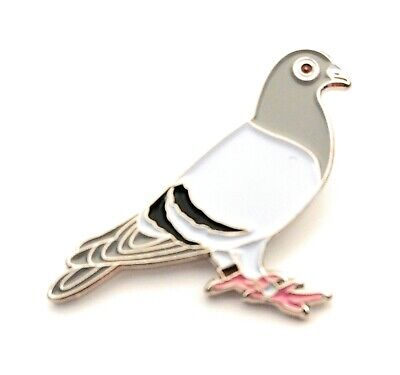 Racing Pigeon Enamel & Metal Lapel Pin Badge 20mm Gift Free UK Delivery