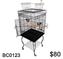 Large 148CM Black Open Roof Pet Bird Parrot Canary Cage Stainless Derrimut Brimbank Area Preview