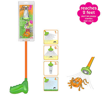THE BUZZ HUMANE SPIDER CATCHER HUMANE FUN & FRIENDLY SPIDER INSECT 2FT REACH