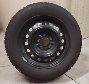 "Set of 4 16"" Winter Tires on Steel Rims"