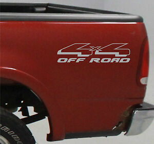 4x4 truck bed decals silver set for ford f 150 super duty. Black Bedroom Furniture Sets. Home Design Ideas