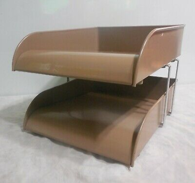 Gw Systems Vintage 2-tier Metal Paper Tray