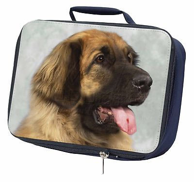 Blonde Leonberger Dog Navy Insulated School Lunch Box Bag, AD-LE1LBN