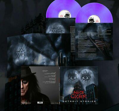 ALICE COOPER DETROIT STORIES EXCL LTD EDITION PURPLE DOUBLE VINYL LP +...