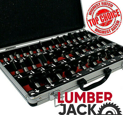 12 Shank 35 Piece Tct Router Cutter Bit Set With Aluminium Case Trade Quality