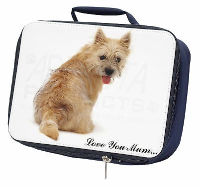 Cairn Terrier Dog 'Love You Mum' Navy Insulated School Lunch Box B, AD-CT1lymLBN