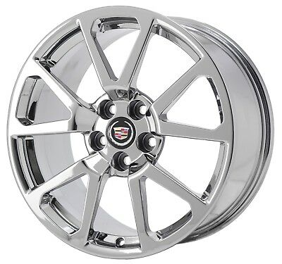 """19"""" CADILLAC CTS-V COUPE PVD CHROME WHEEL RIM FACTORY OEM REAR 4677"""