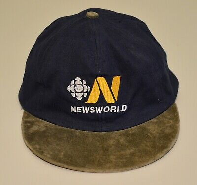 CBC Newsworld hat blue Canada news television Canadian Broadcasting ()