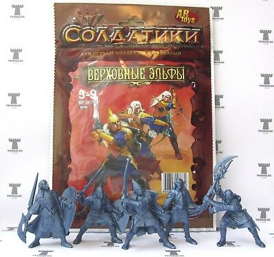 High Elves Warriors 54 mm - 5 Figures SOFT plastic Tehnolog Russian Toy Soldiers