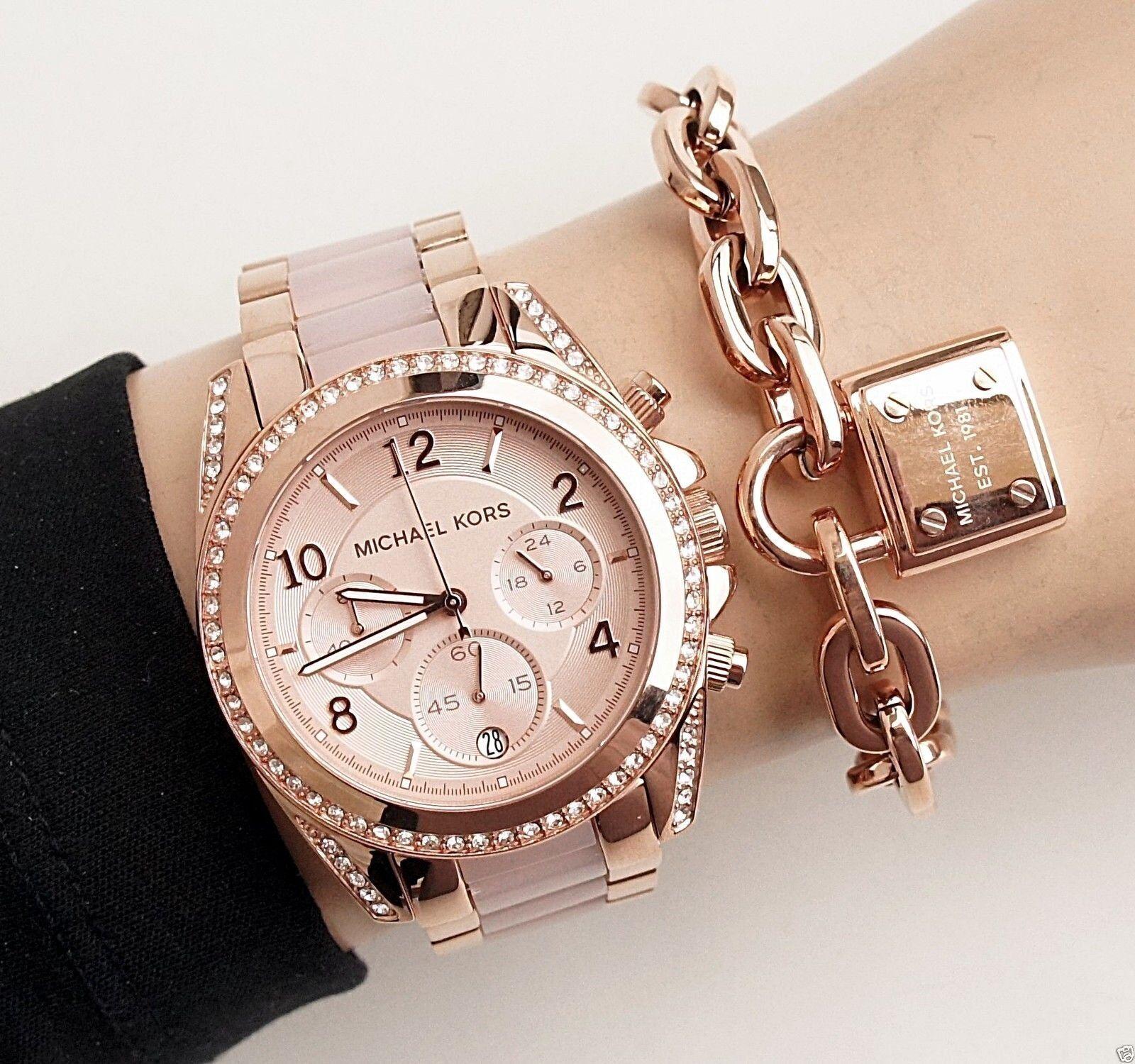 Michael Kors - Michael Kors Women's Blair Chrono 100m Rose Gold Stainless Steel Watch MK5943