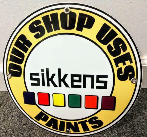 Sikkens Automotive Auto Paint sign .. gas oil man cave gasol