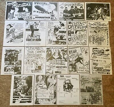 Social Distortion - Lot of 18 Concert Flyers Handbills - LA Punk - Pushead Art