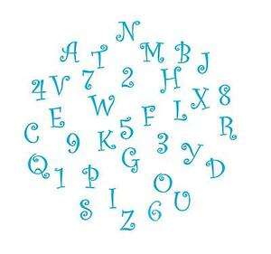 FMM-Alphabet-Numbers-Cutter-Set-UPPER-Case-FUNKY-Letters-FONDANT-Tappit