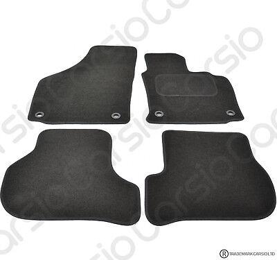 Car Parts - VW Golf MK5 & Jetta 03 -2008 Tailored Black Car Floor Mats Carpets Set Oval Clip