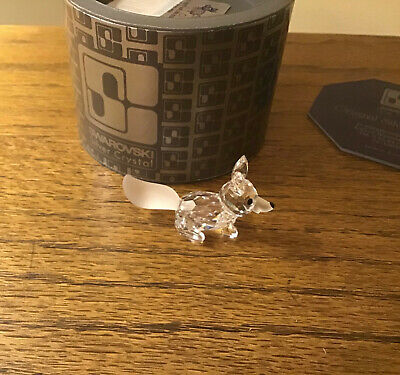 Swarovski Miniature Fox Crystal Figurine #7677