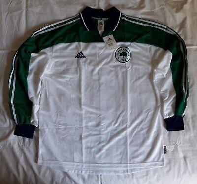 Panathinaikos 2001 2002 away football shirt soccer jersey, Adidas, Size L, BNWT image