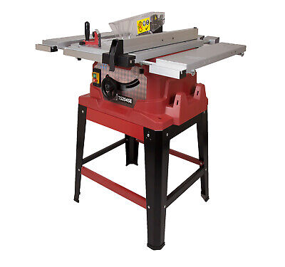 "Premium 240V 10"" Table Saw with Leg Stand Sliding Extensions TCT Blade & Laser"