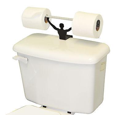 Toilet Novelties (Strong Man Funny Bathroom Toilet Paper Tissue Roll Holder Weightlifter)