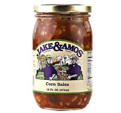 Jake & Amos Corn Salsa, 16 Oz. Jar (Pack of 2)