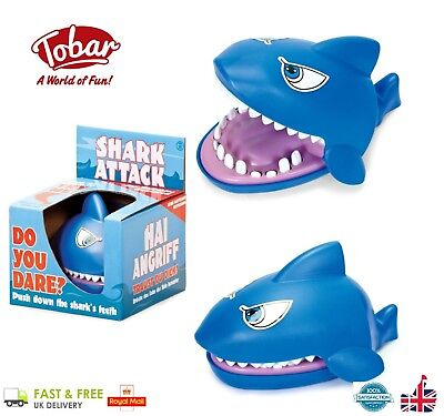 Baby Christmas Games (TOBAR Shark Attack - Biting Shark Challenge Family Board Game Toy Christmas)
