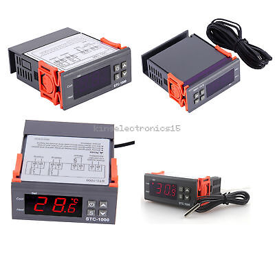 NEW 12V/24V/110V/220V STC-1000 Digital Temperature Controller Thermostat w/NTC K