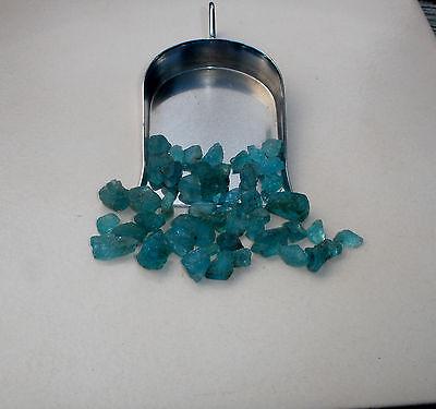 Blue Apatite crystal rough gem mix parcel over 50 carats
