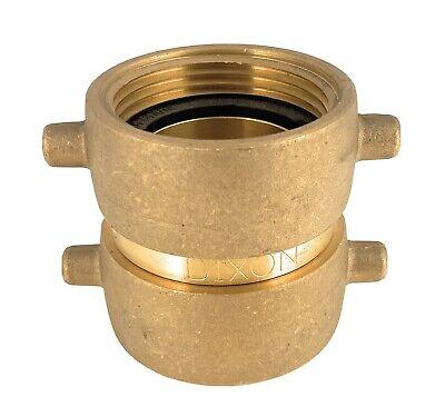 Dixon Dfp1515f Brass Double Female Swivel Fire Hose Adapter Pin Lug 1-12nst