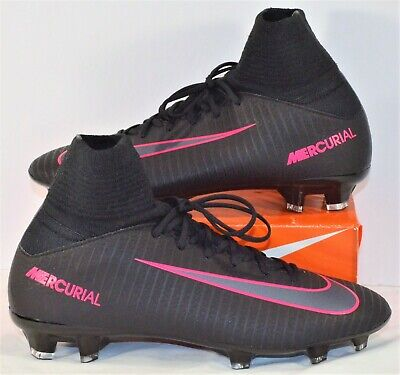 3ee27f202 Nike JR Mercurial Superfly V FG Black   Pink Soccer Cleats Sz 4Y NEW 831943  006