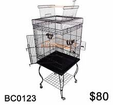 Open Roof Pet Bird Parrot Canary Cage Stainless Large Black Richlands Brisbane South West Preview