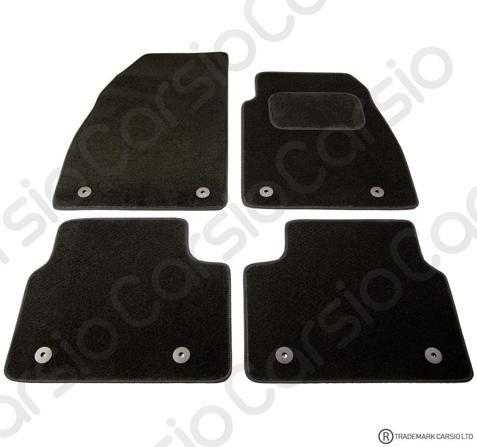 Car Parts - Vauxhall Insignia 2013 to 2017 Tailored Black Car Floor Mats Carpets 4 piece Set
