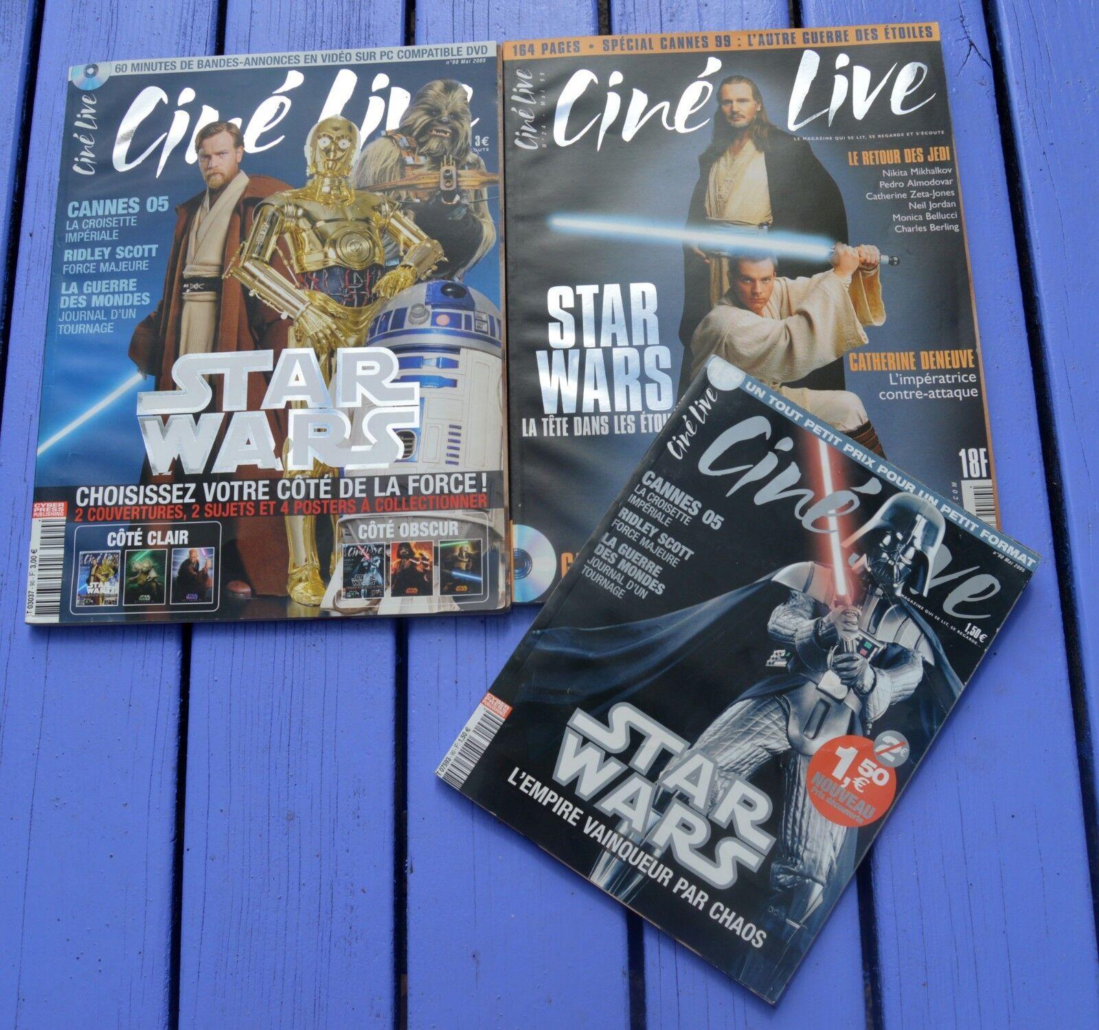 Lot de 4 cine live spécial star wars, n°24 et 90 x 2 (un format kindle)