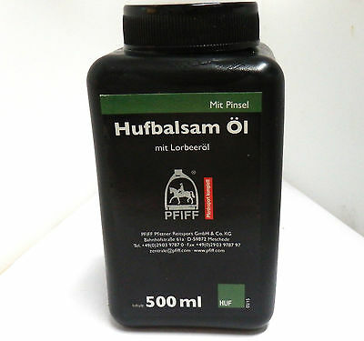 PFIFF 100931 Hufbalsam Öl Hufpflege mit Lorbeeröl Inhalt 500 ml GP 2,58 €/100 ml